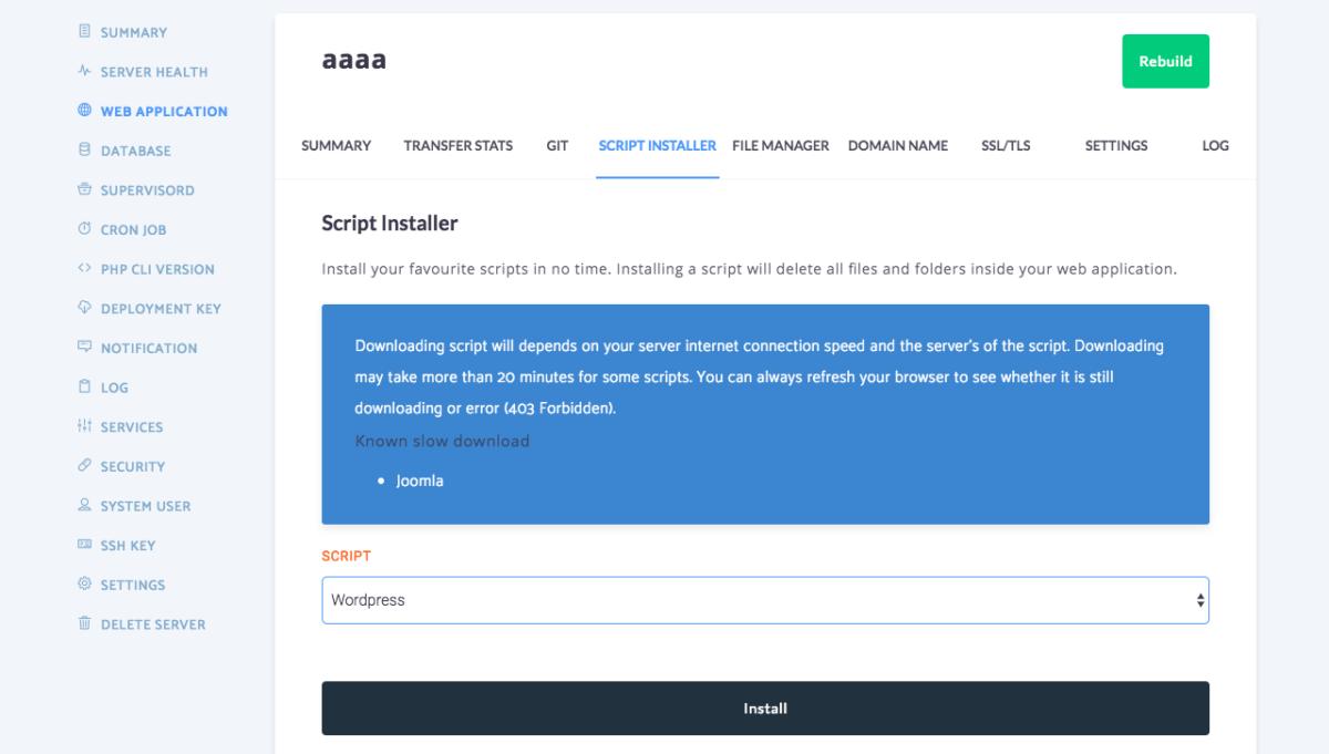 How to install WordPress using RunCloud