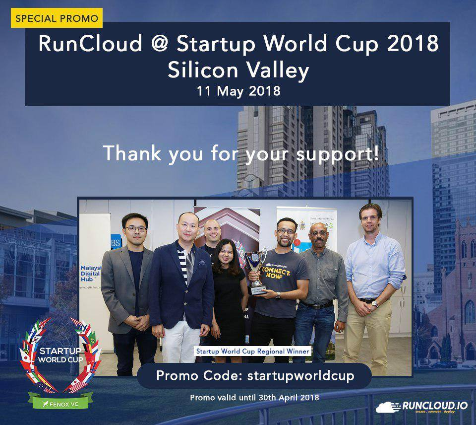 RunCloud will represent Malaysia at the Startup World Cup 2018