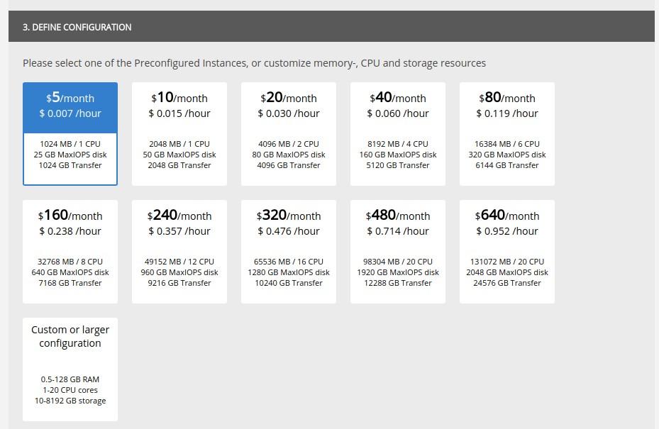 UpCloud preconfigured server
