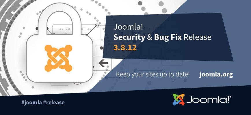 Joomla 3.8.12 Released.