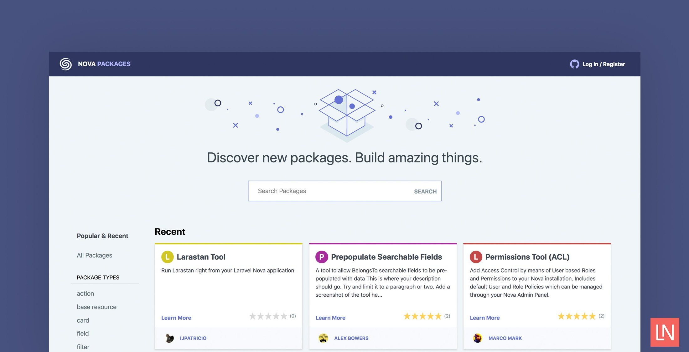 Introducing Nova Packages