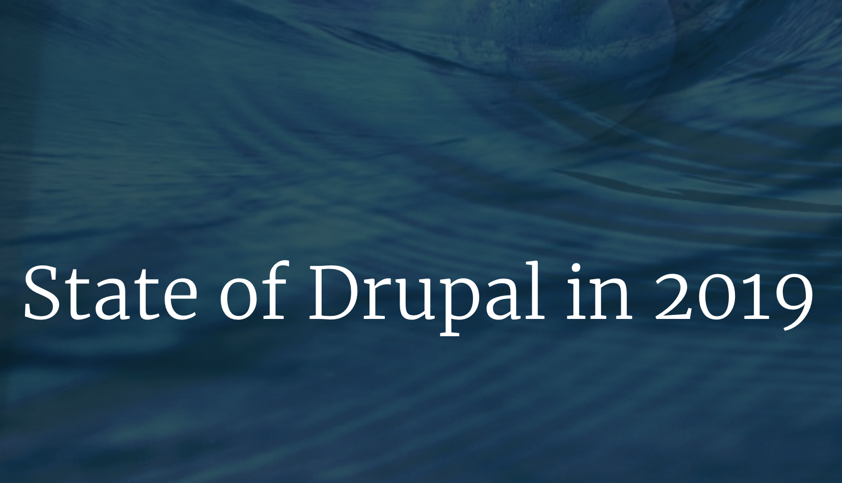 The State of Drupal 2019