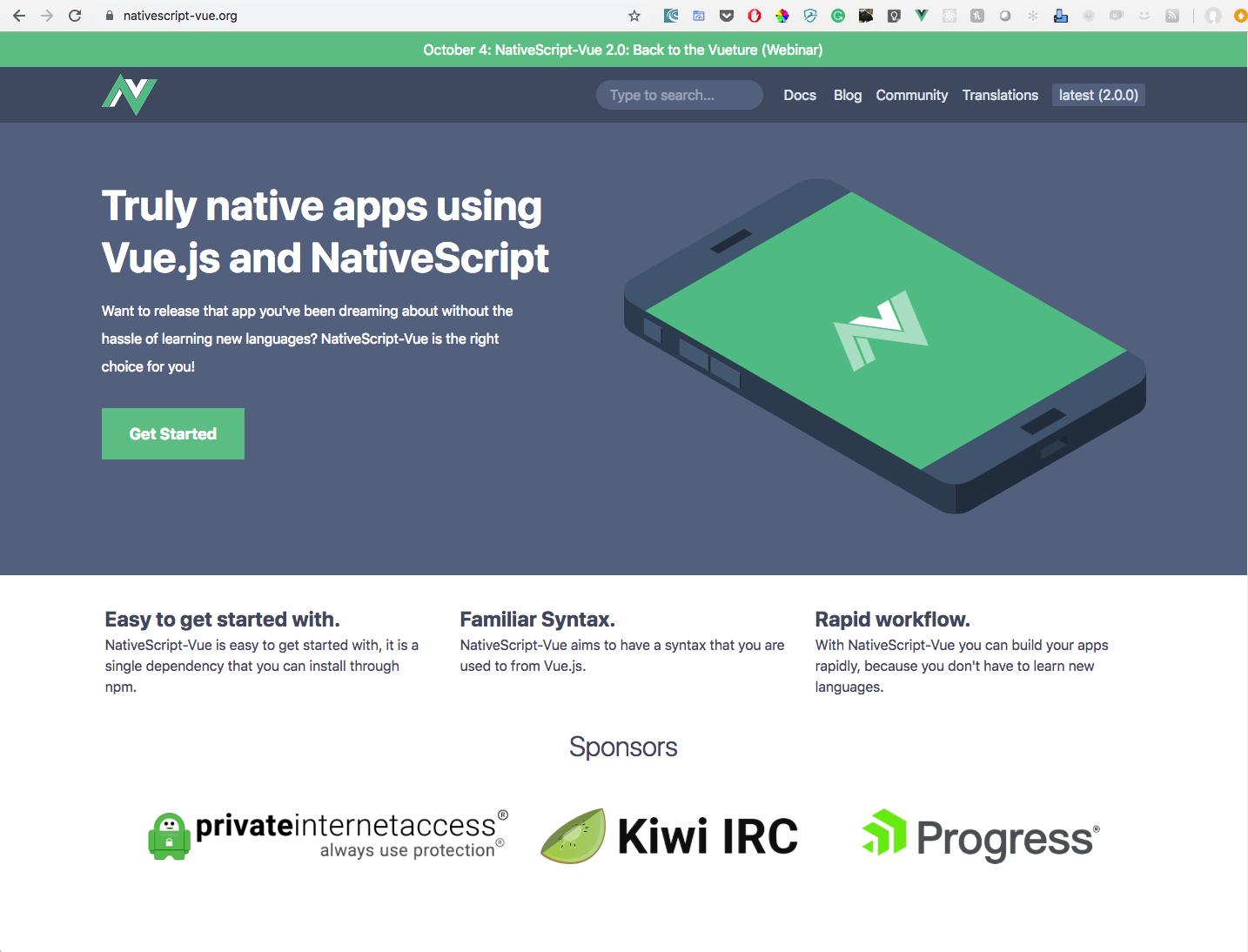 Behold! NativeScript-Vue 2.0!