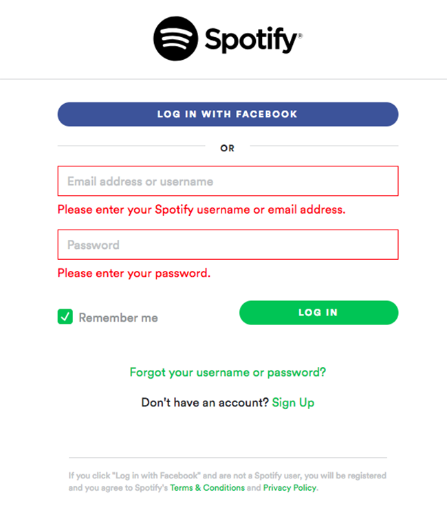 PHP authentication Spotify