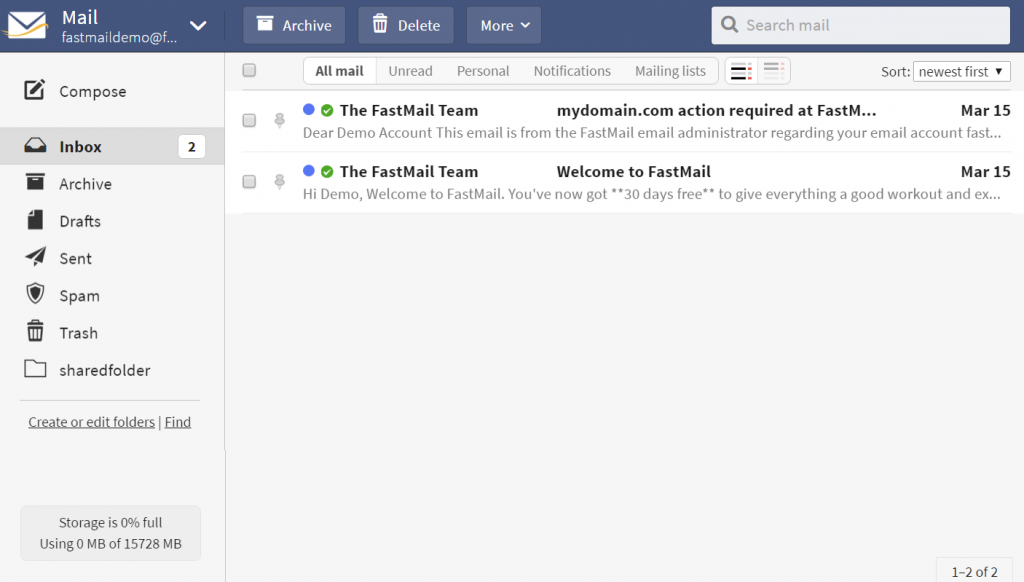 fastmail webmail