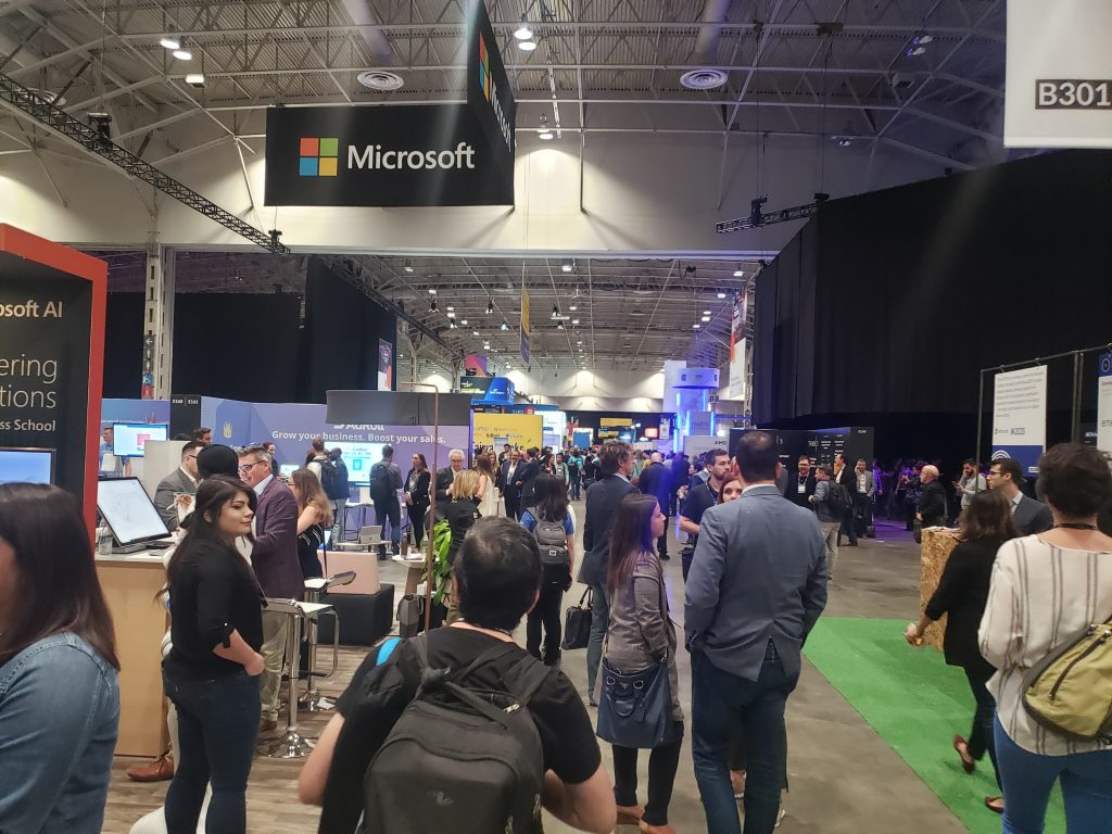 Microsoft and many other companies in attendance at CollisionConf 2019