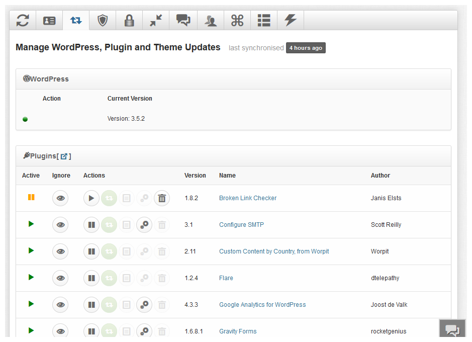 iControlWP wordpress management tool