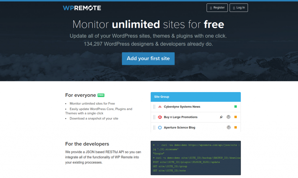 wpremote wordpress management tool