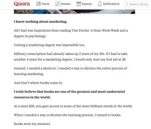 quora for content marketing