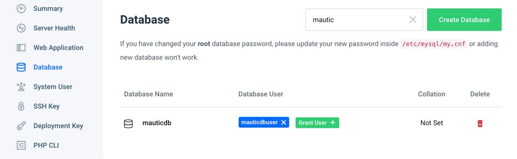 runcloud-mautic-06-create-database