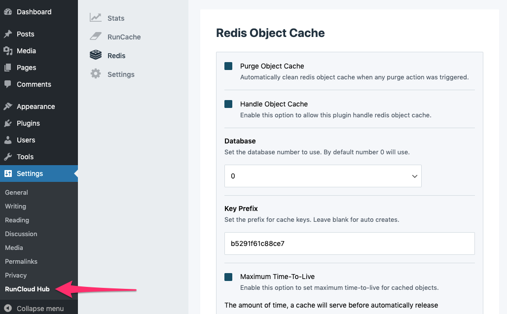 runcloud-redis-object-cache-runcloud-hub