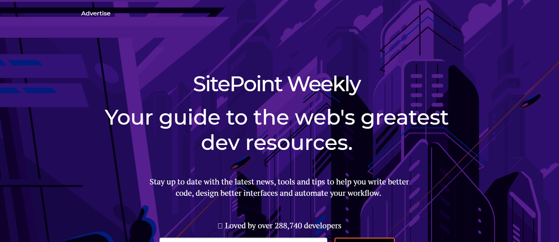 SitePoint Weekly newsletter