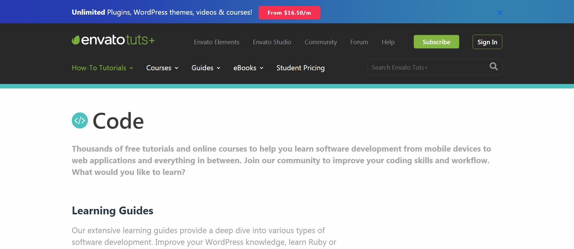 codetuts+ newsletter from envato