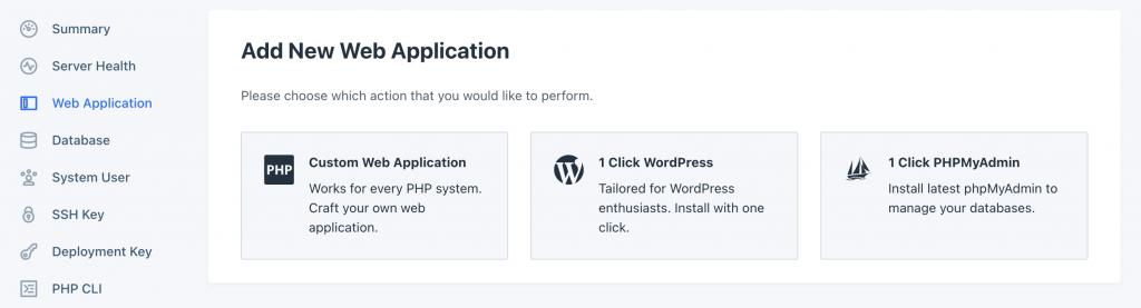 RunCloud New Web Application