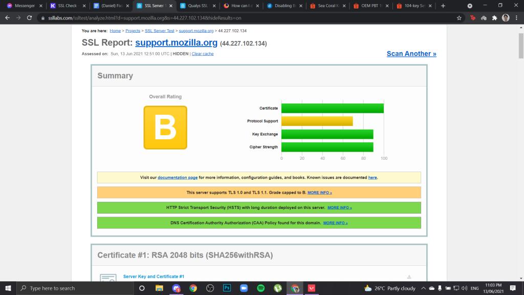 ssl error code report