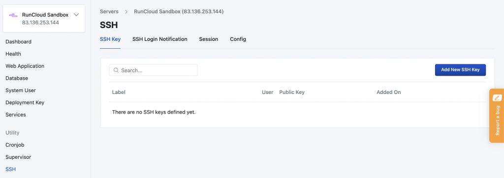 RunCloud New Server Management